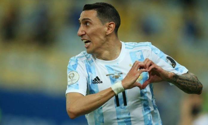 Angel Di Maria festeggia con l'Argentina