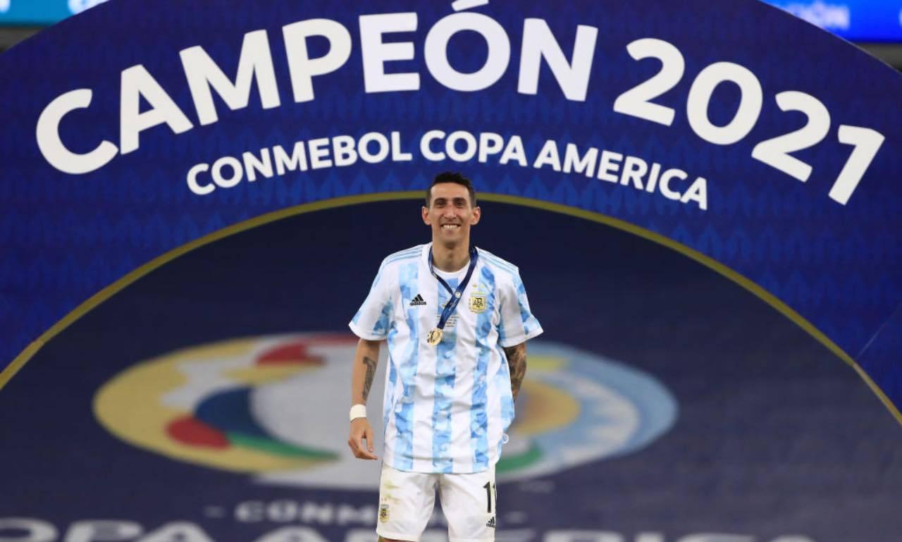 Di Maria, vincitore della Copa America con l'Argentina
