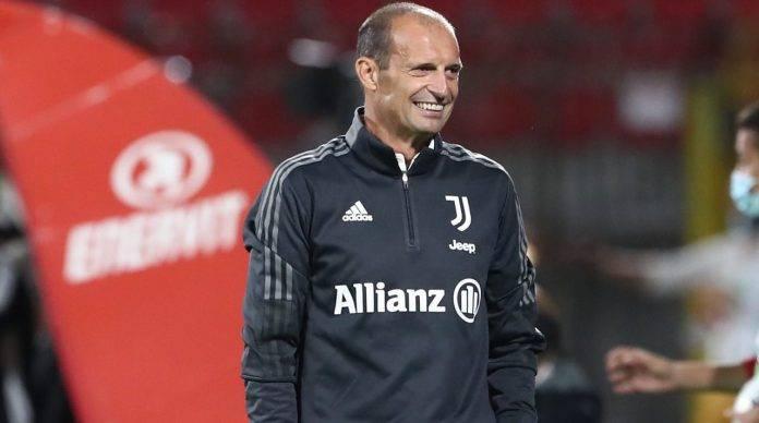 Allegri in panchina con la Juventus