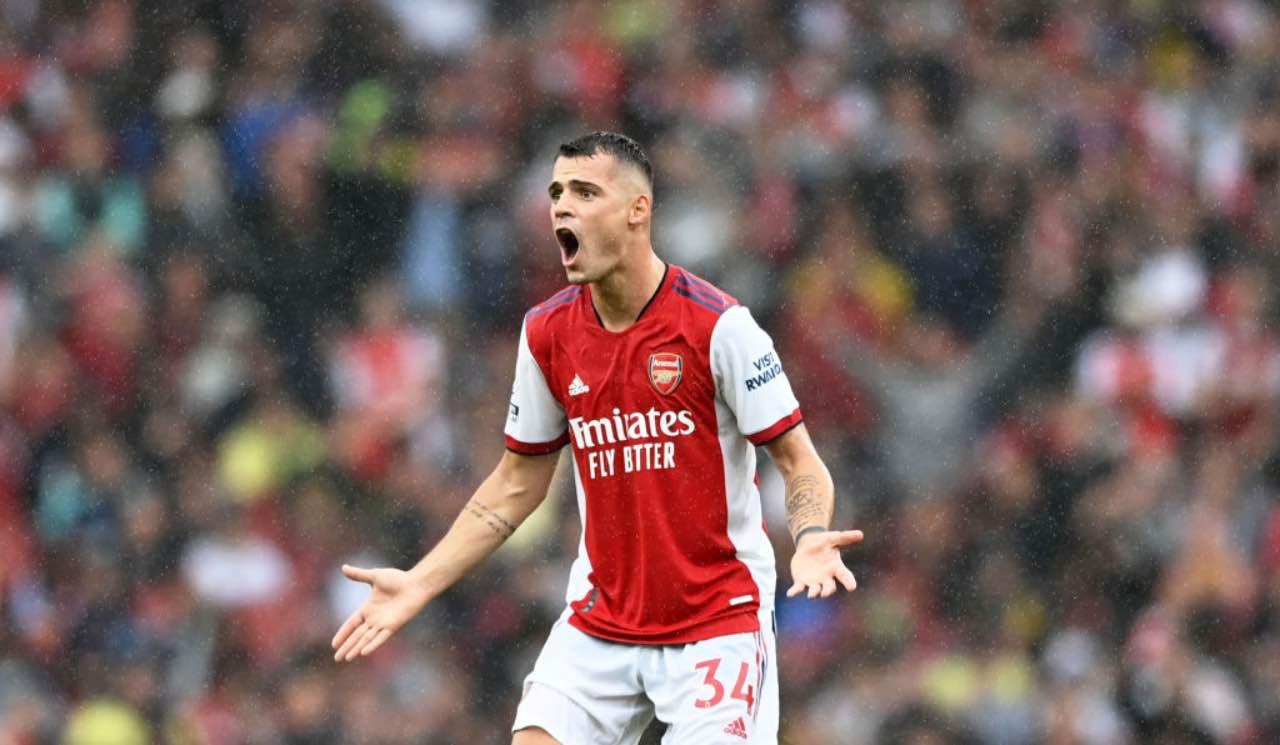 Xhaka in Arsenal-Chelsea
