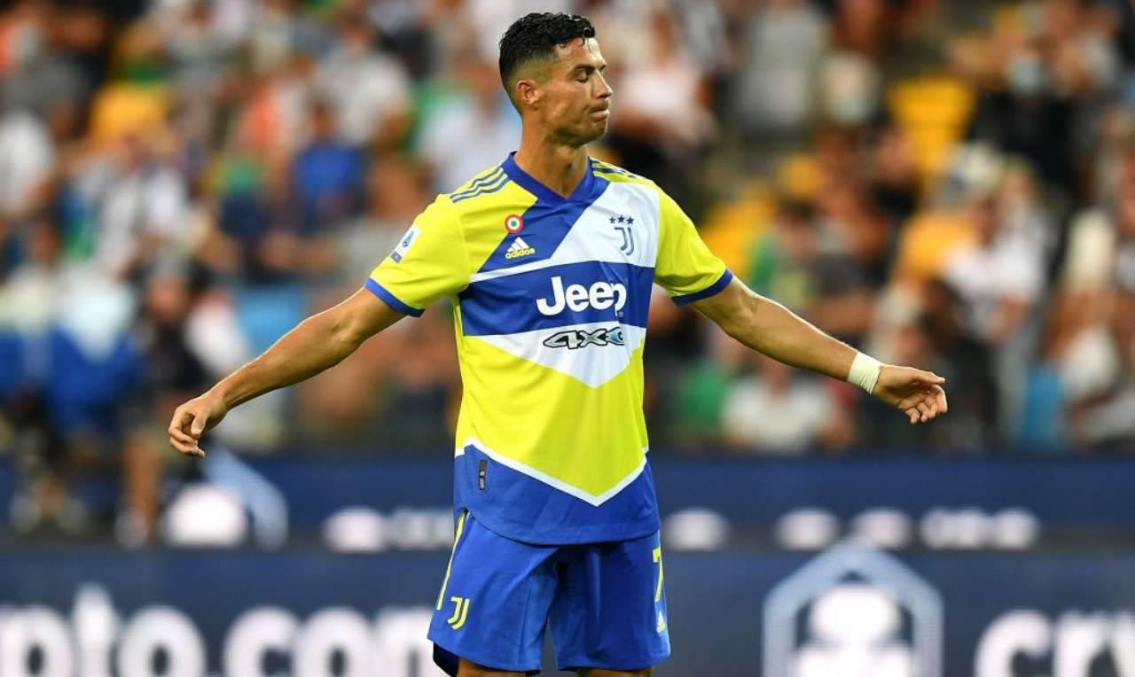 Ronaldo durante l'ultima partita con la Juventus