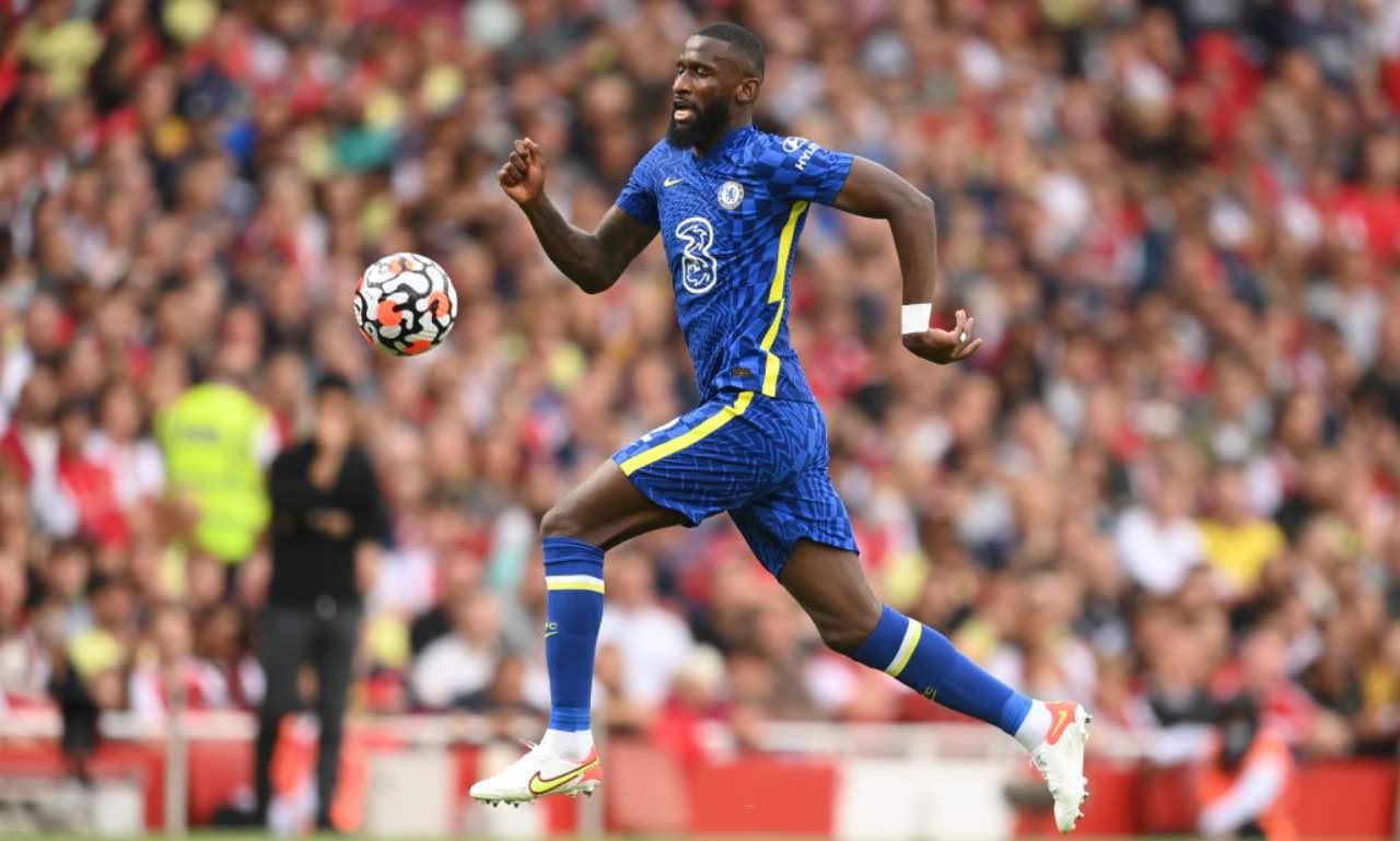 Rudiger in Arsenal-Chelsea