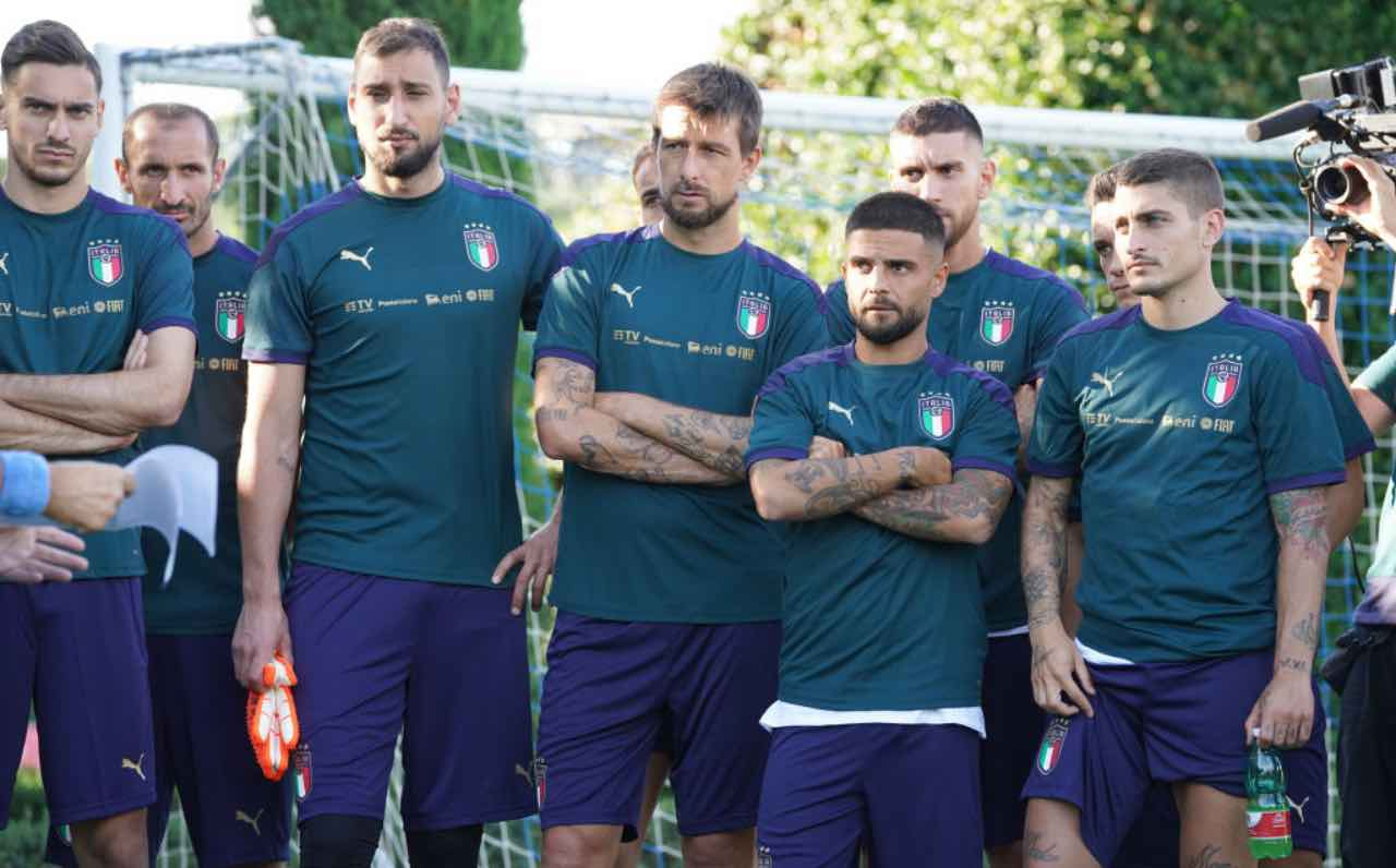 La Nazionale italiana in ritiro