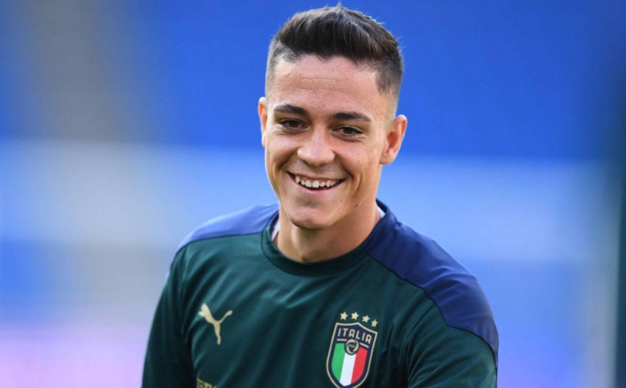 Giacomo Raspadori in ritiro con la Nazionale