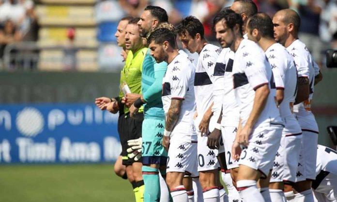 I giocatori del Genoa a Cagliari