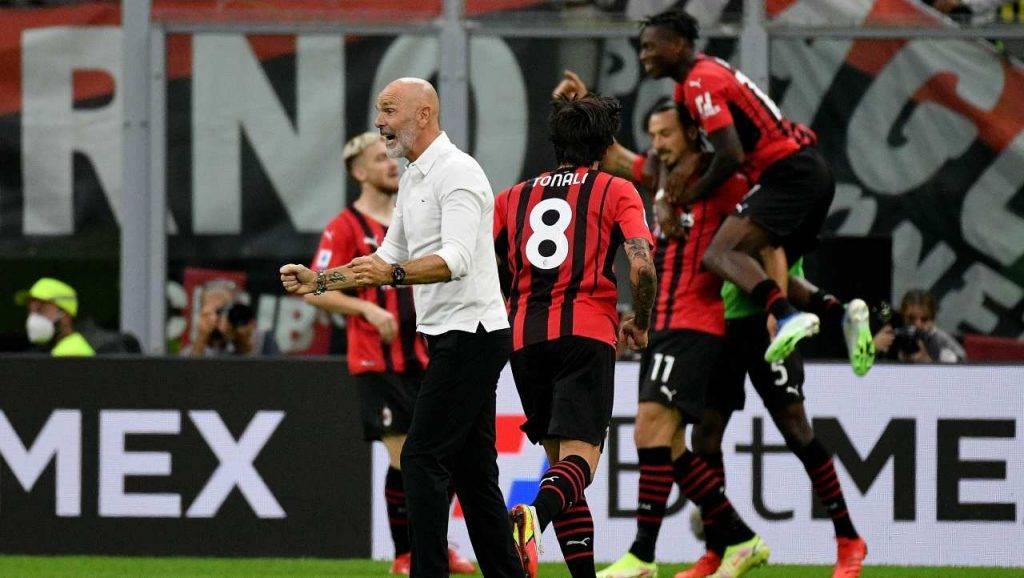 Pioli esulta Milan