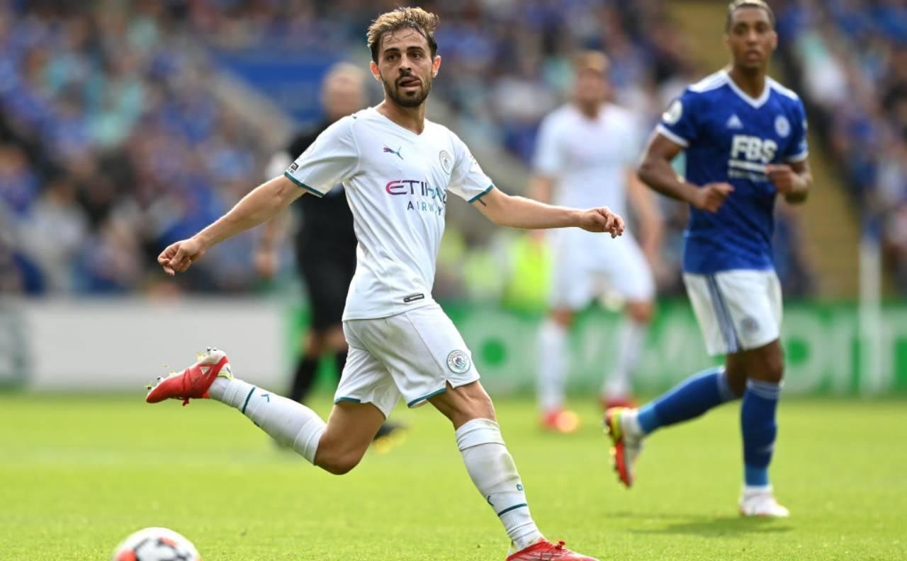 Bernardo Silva con la maglia del City