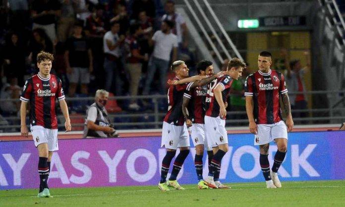 Bologna, Svanberg esulta dopo la vittoria sul Verona