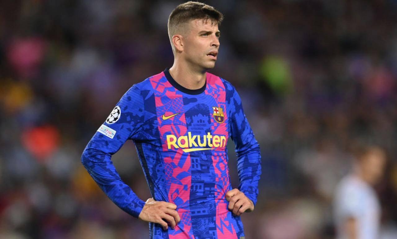 Piqué in Barcellona-Bayern Monaco