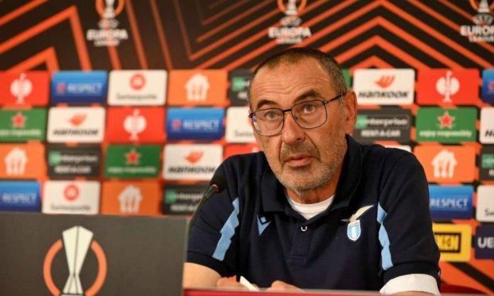 Lazio, Maurizio Sarri in conferenza stampa