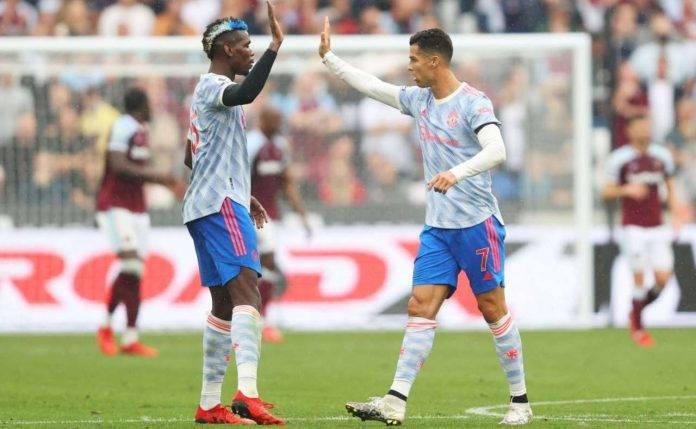 Pogba e Ronaldo si danno il cinque