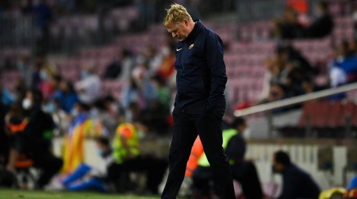 Koeman del Barcellona deluso