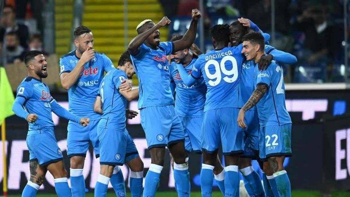 Napoli giocatori esultano