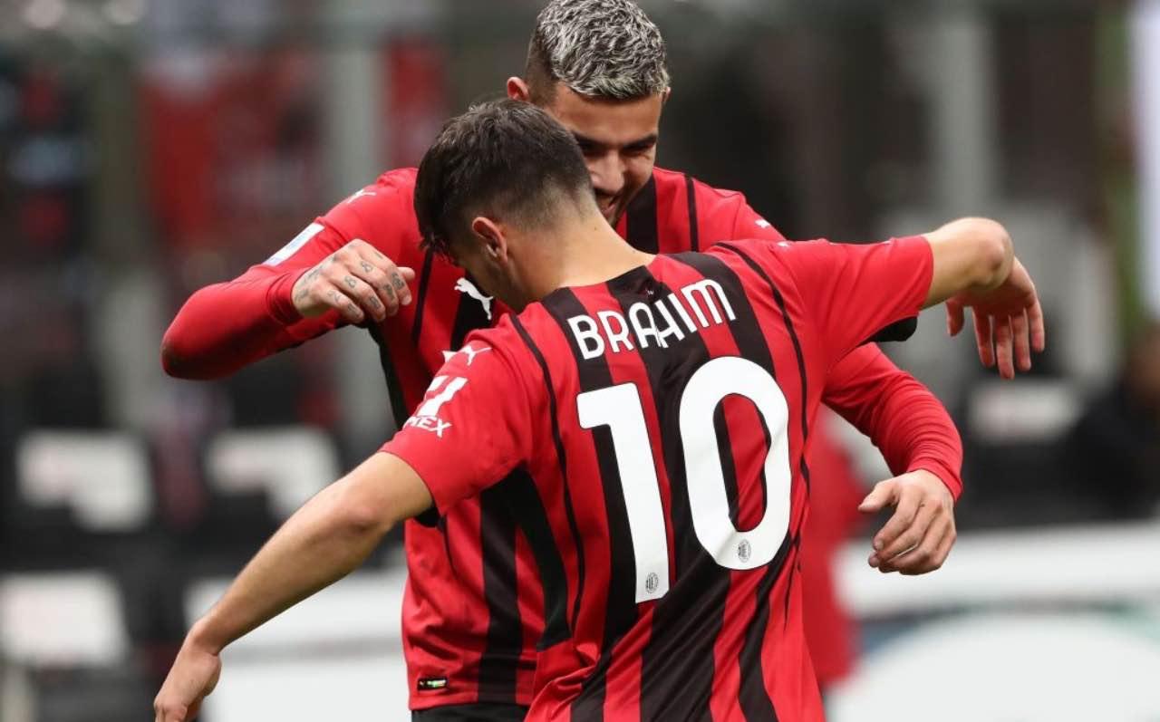Brahim Diaz e Theo Hernandez in Milan-Venezia