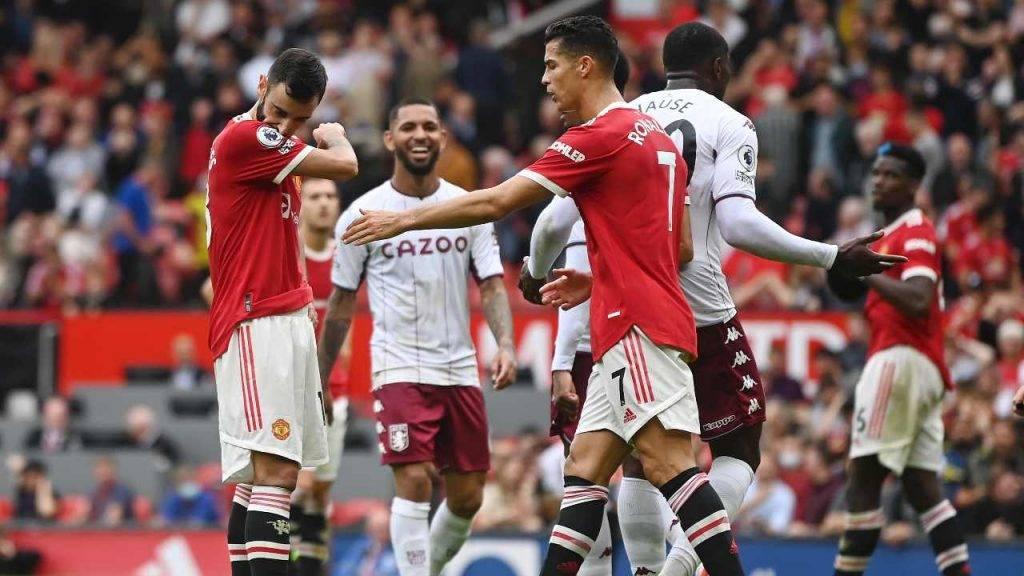 Cristiano Ronaldo consola Bruno Fernandes