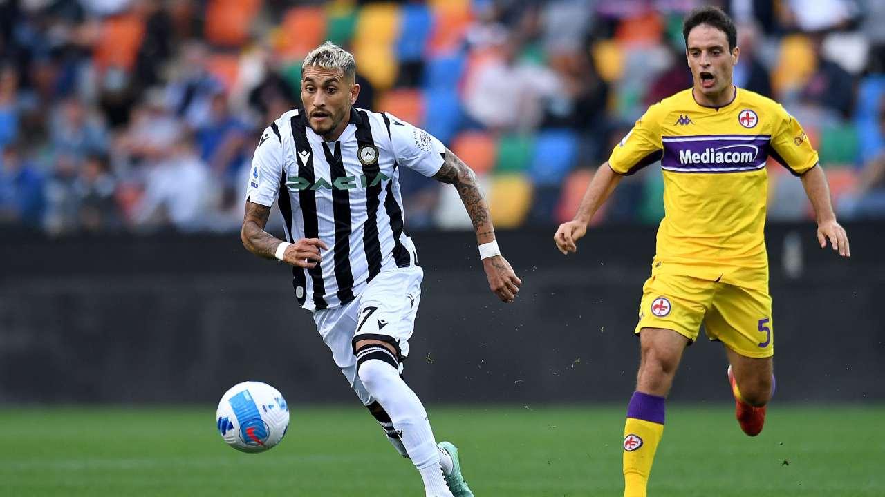 Udinese-Fiorentina in campo