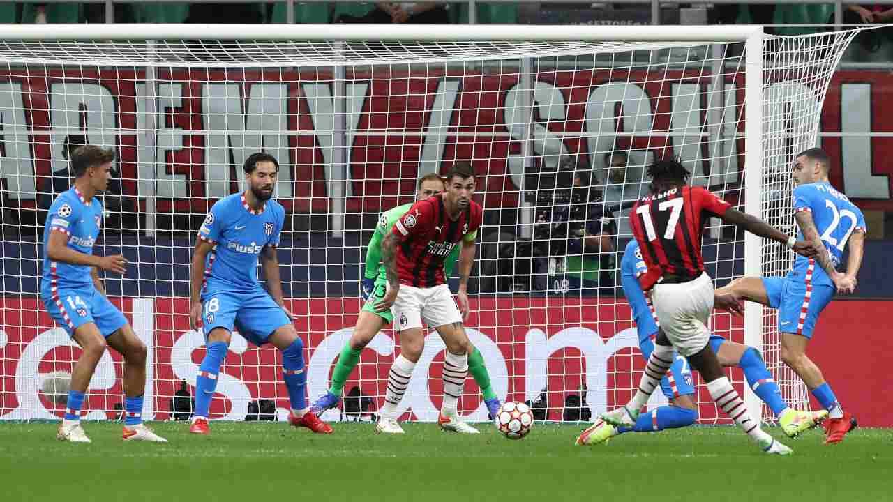 Milan-Atletico in campo