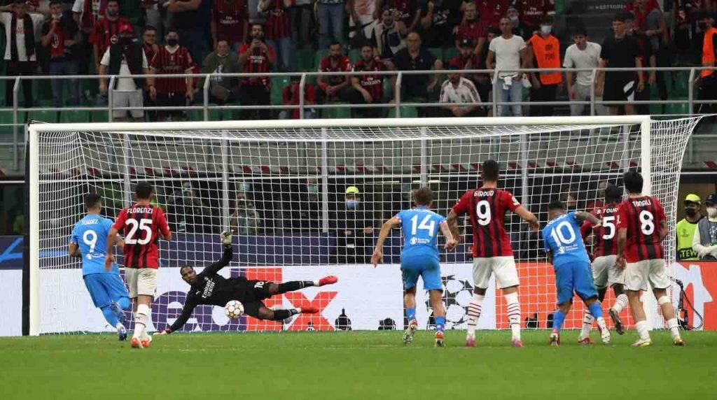 Il rigore di Suarez contro il Milan