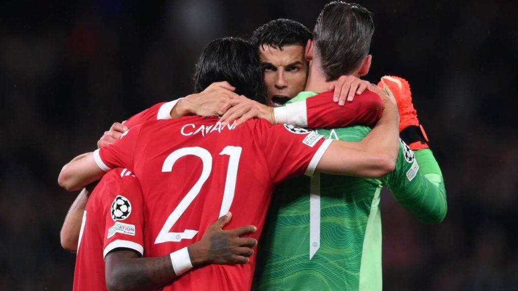 Ronaldo esulta con la squadra Manchester United