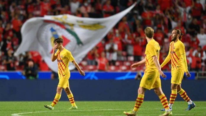 Barcellona sconfitto contro il Benfica