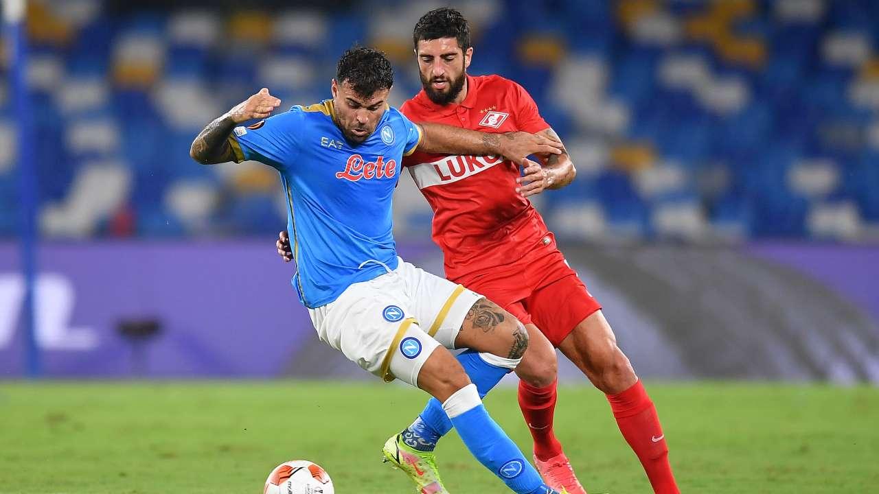 Napoli-Spartak in campo
