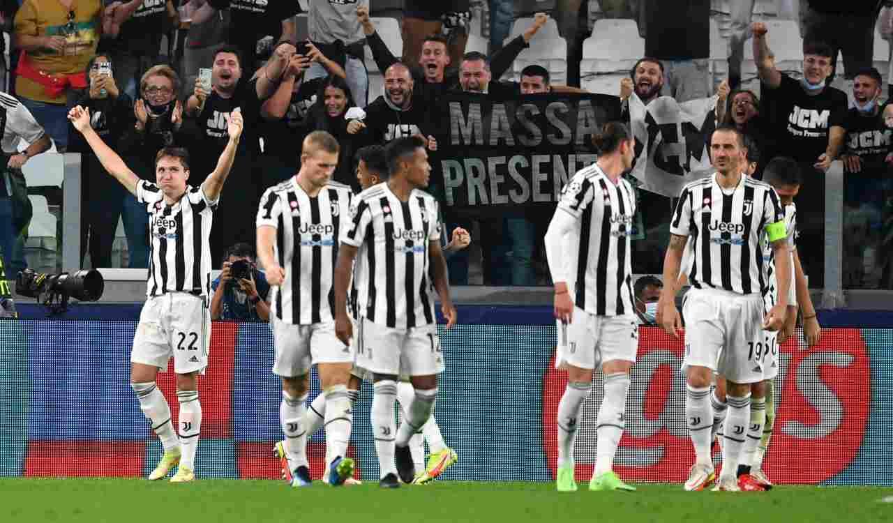 Juventus esulta per il gol