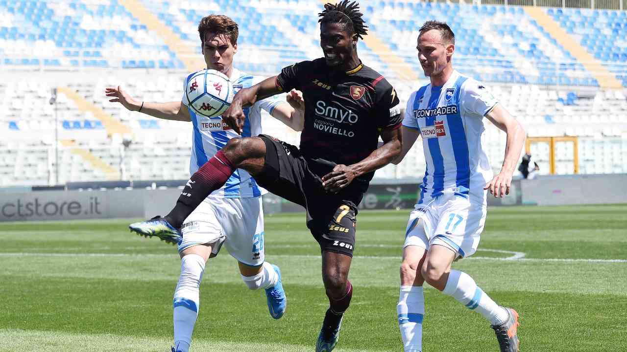 Gondo in azione contro il Pescara