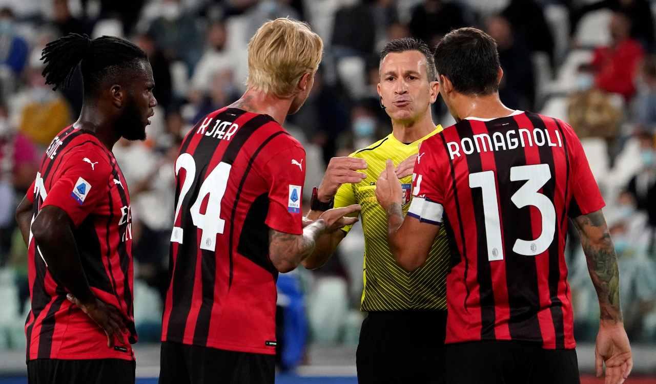Il Milan si lamenta con l'arbitro