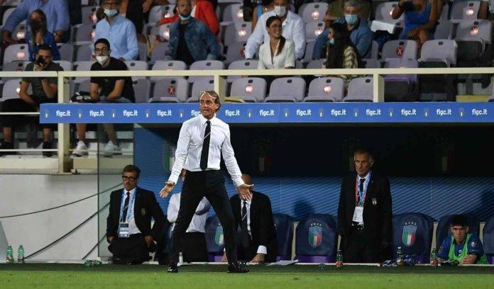 Roberto Mancini in panchina