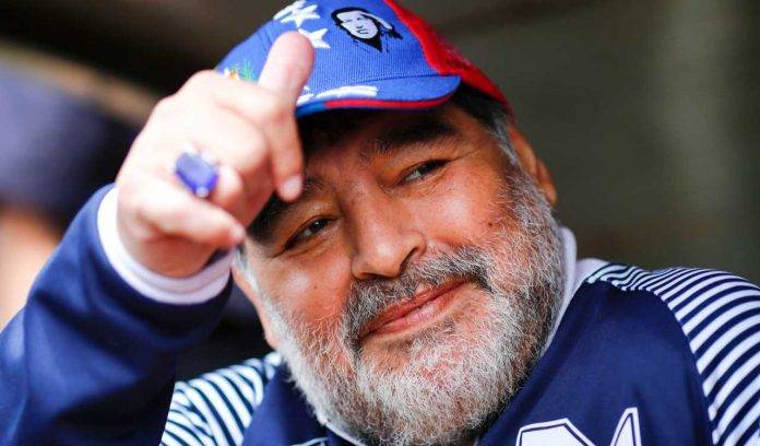 Maradona allo stadio