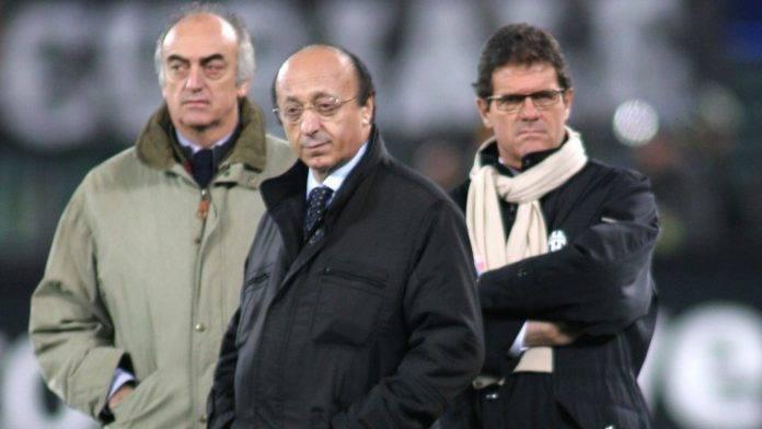 Moggi con Giraudo e Capello ai tempi della sua permanenza alla Juventus
