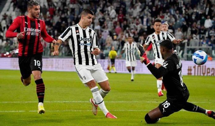 Morata segna contro il Milan