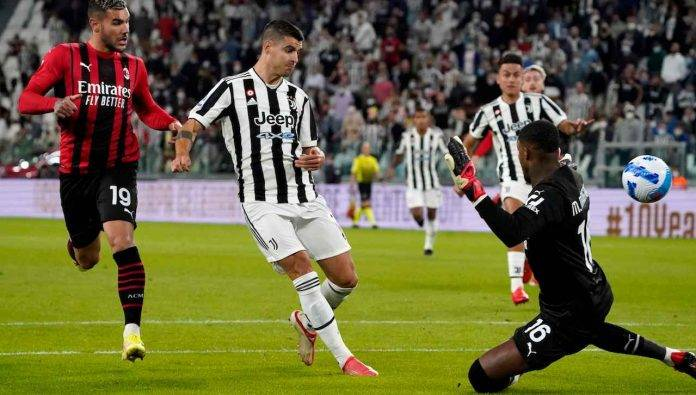 Maignan subisce gol da Morata
