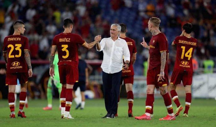 Mourinho con la squadra