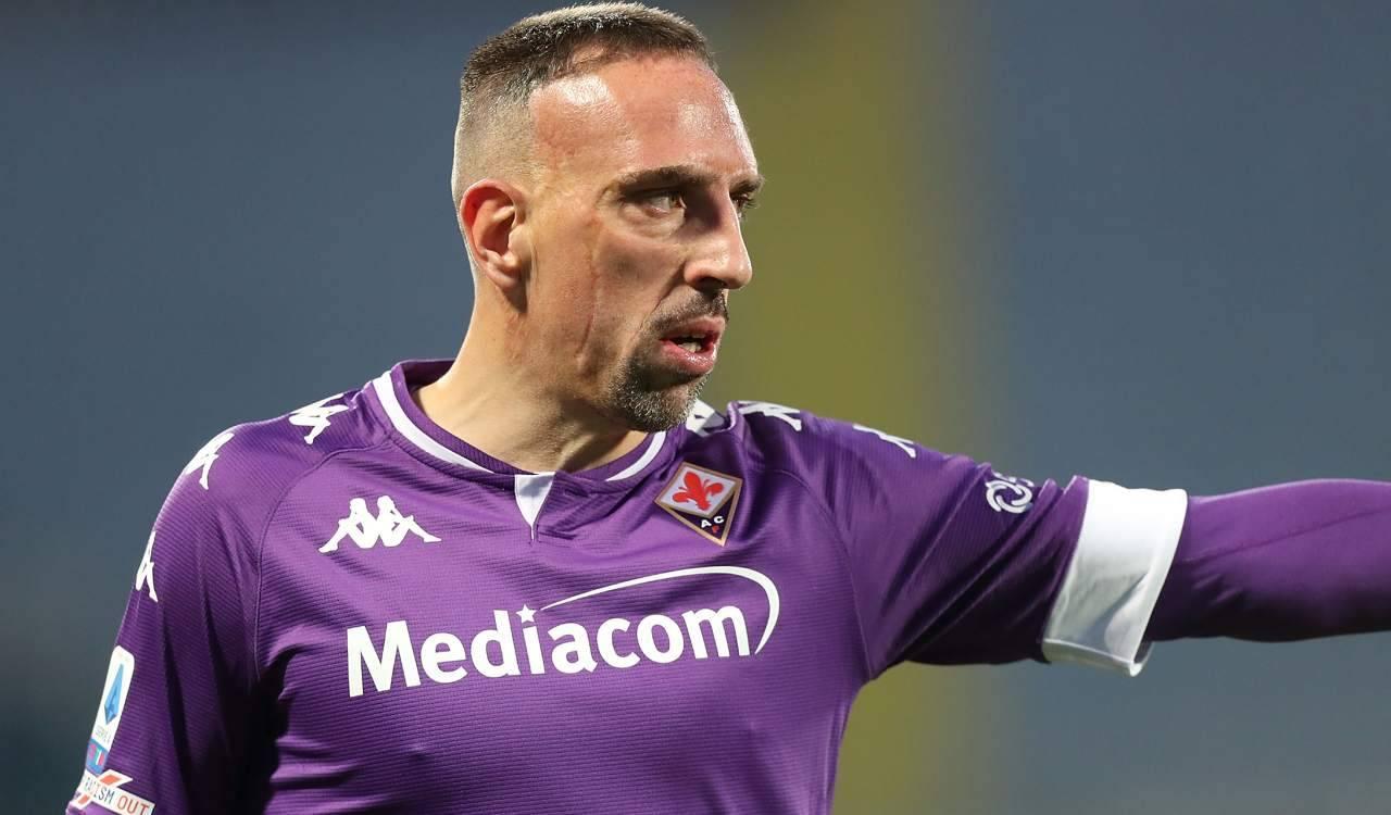 Ribery con la Fiorentina