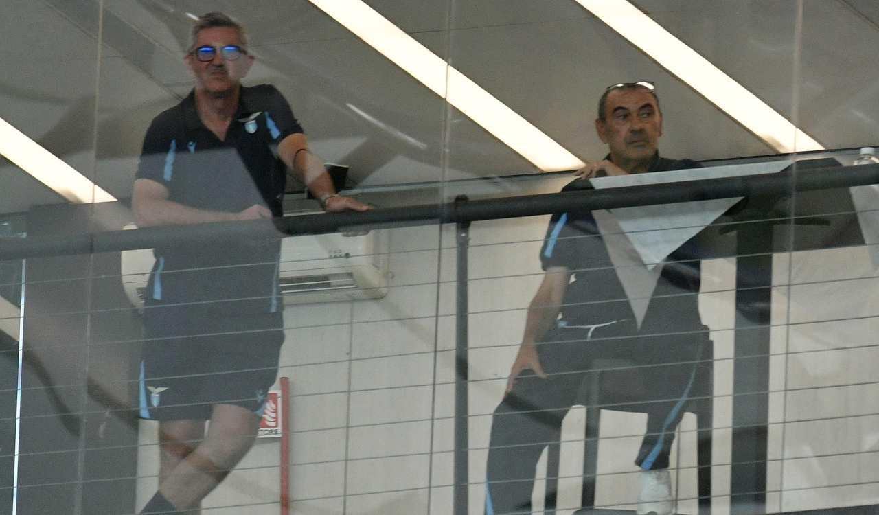 Maurizio Sarri in tribuna