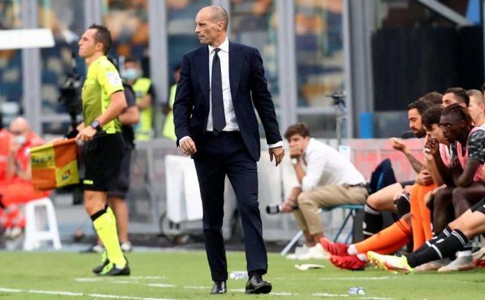 Juventus, Allegri a bordo campo