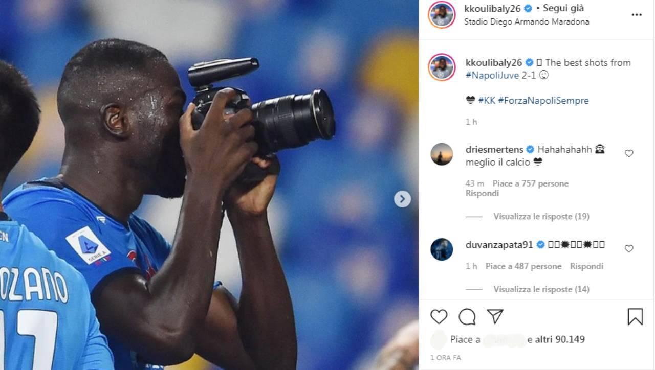 Il post Instagram di Kalidou Koulibaly