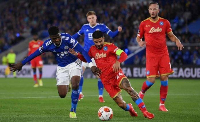 Leicester-Napoli, Insigne difende il pallone