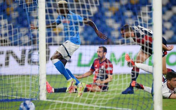 Napoli-Cagliari, il gol di Osimhen
