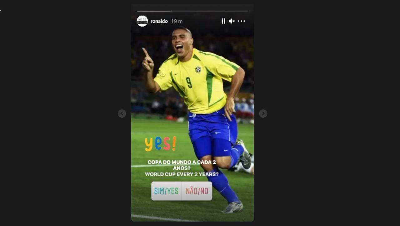 La storia Instagram di Ronaldo