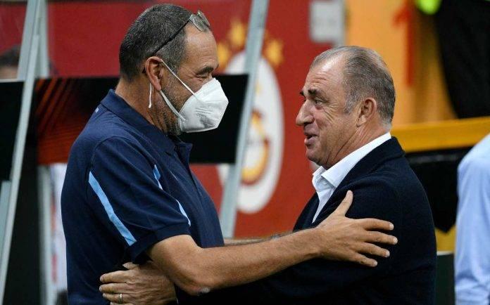 Galatasaray-Lazio, Sarri e Terim si salutano