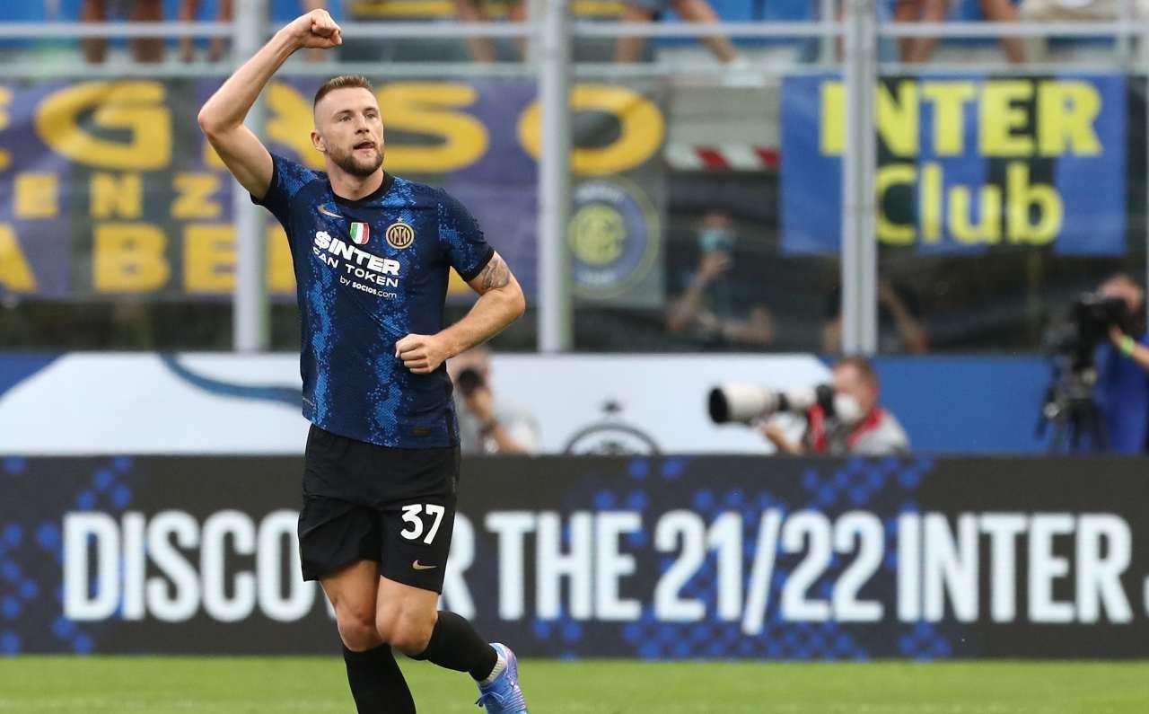 Inter, Skriniar esulta
