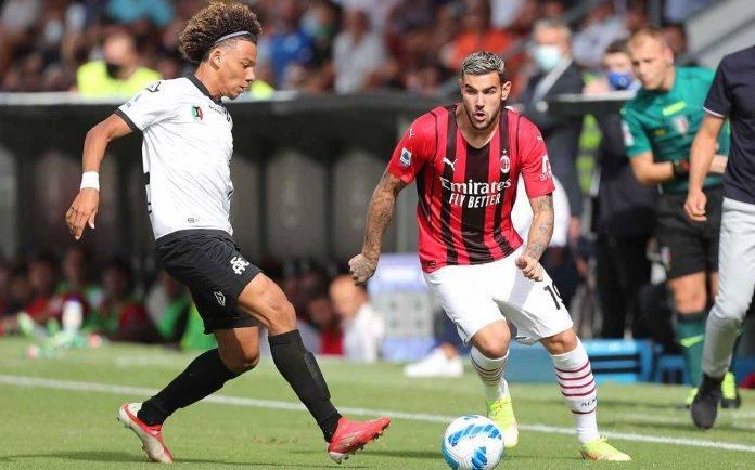 Spezia-Milan, Theo Hernandez palla al piede