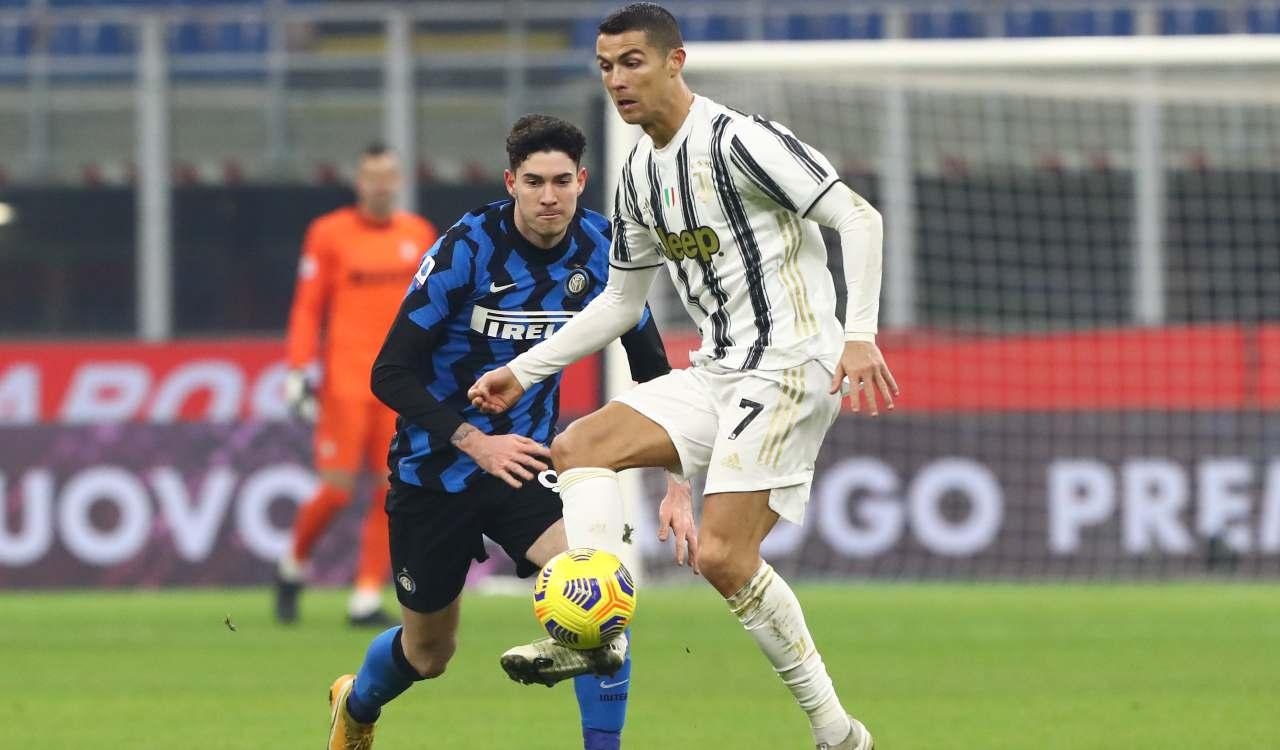Bastoni contro Ronaldo