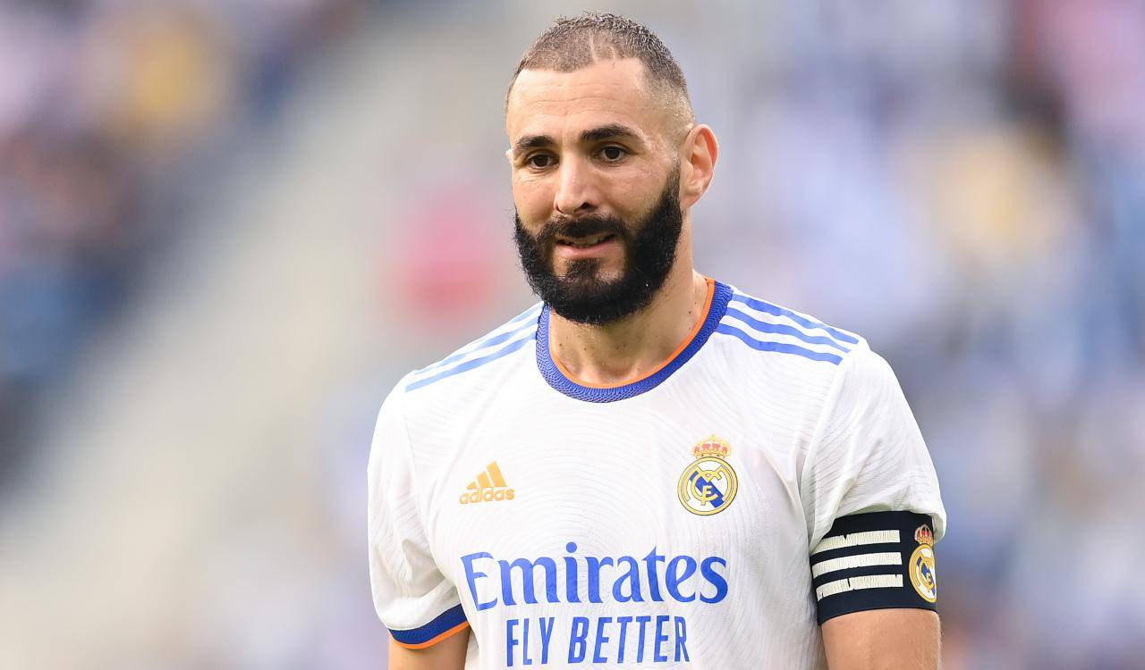 Benzema in campo