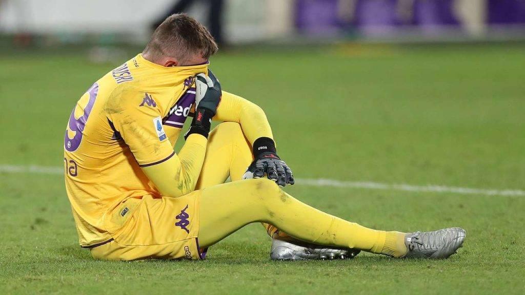 Dragowski Fiorentina infortunio