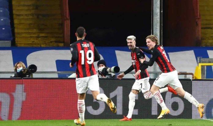 Hauge, Theo e Castillejo col Milan