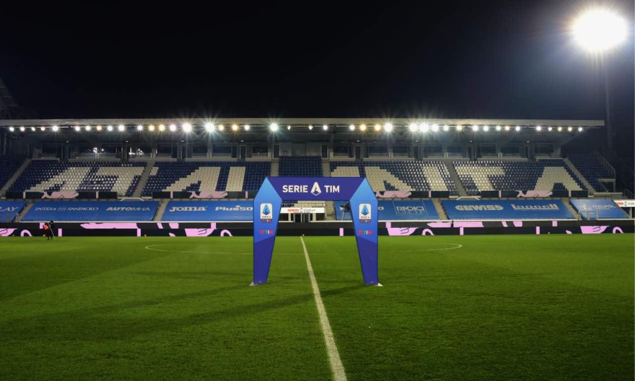 Lo stadio dell'Atalanta pronto per il match di Serie A