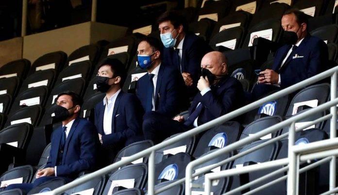 Zhang, Marotta e Zanetti allo stadio